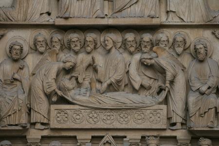 Notre-Dame, Paříž, Portál Panny. Planetární kovy