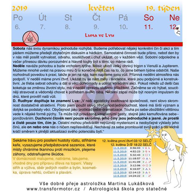 Horoskop pro 19 týden